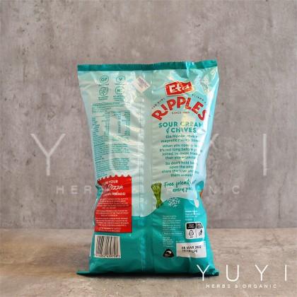 【ETA】 Spuds Ripple S/Cream & Chives Chips - 150g